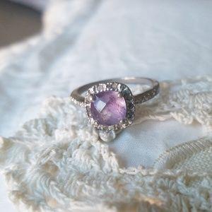 🌹 Sterling & Amethyst Ring